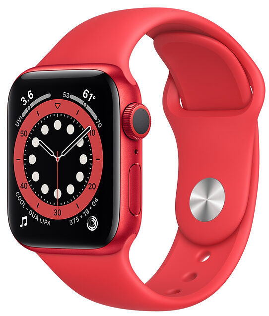 Apple WATCH Series 6 44mm Red Aluminium Case with (PRODUCT)RED Sport Band (M00M3)