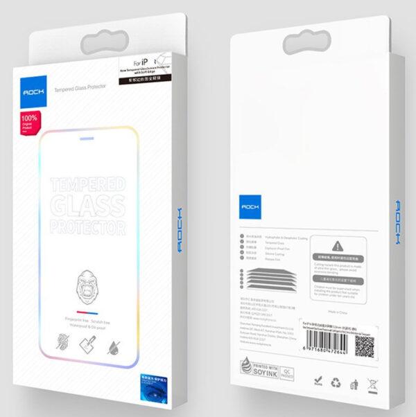 Стекло защитное Rock (0.25mm) iPhone 12/12 Pro (6.1) Full-Coverage Tempered Glass