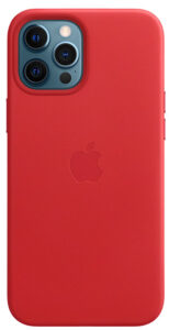 Чехол Apple iPhone 12/12 Pro Leather Case with MagSafe - (PRODUCT) RED