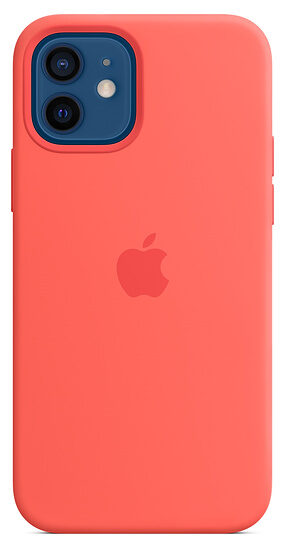 Чехол iPhone 12/12 Pro Silicon Case with MagSafe - Pink Citrus