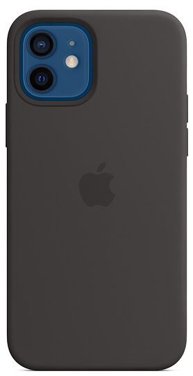 Чехол iPhone 12/12 Pro Silicon Case with MagSafe - Black